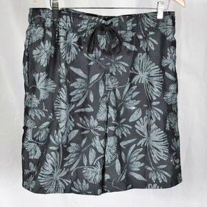 OP Ocean Pacific Black Tropical Board Shorts 30